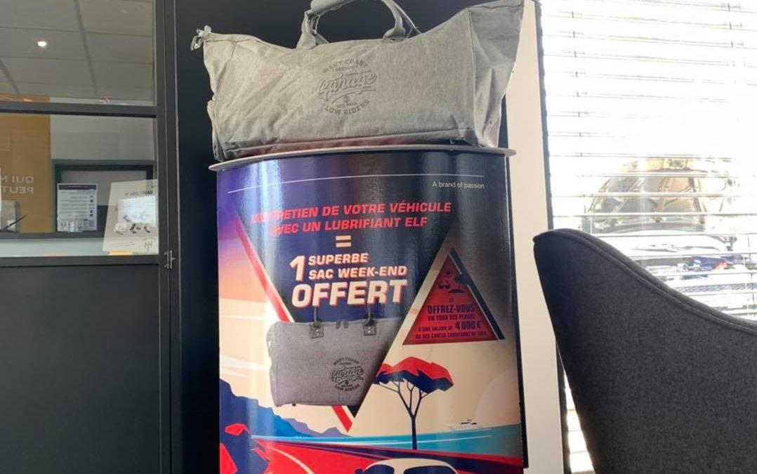 Un sac week-end OFFERT pour tout entretien avec un lubrifiant ELF